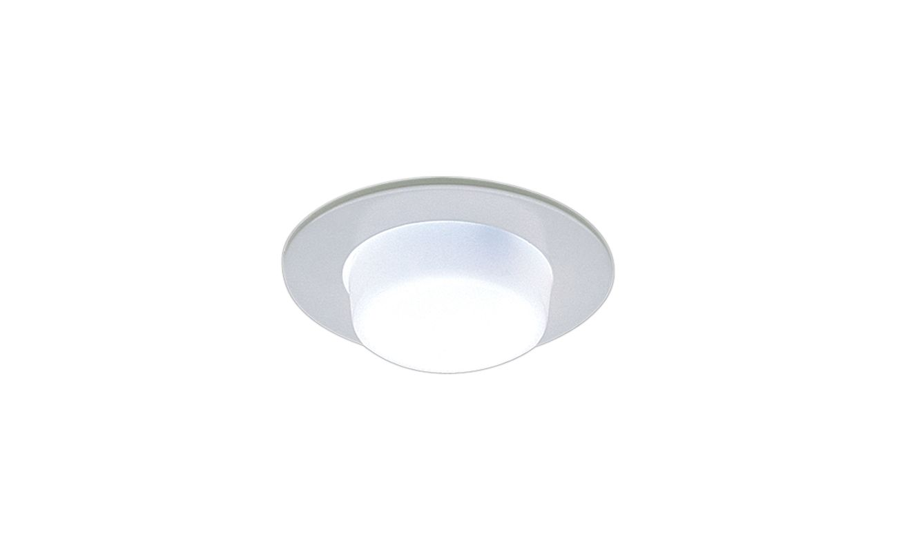 "Elco EL9116 4"" Shower Trim with Drop Opal Lens and Reflector Clear"