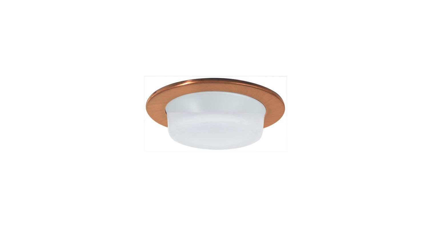 "Elco EL9116 4"" Shower Trim with Drop Opal Lens and Reflector Copper"