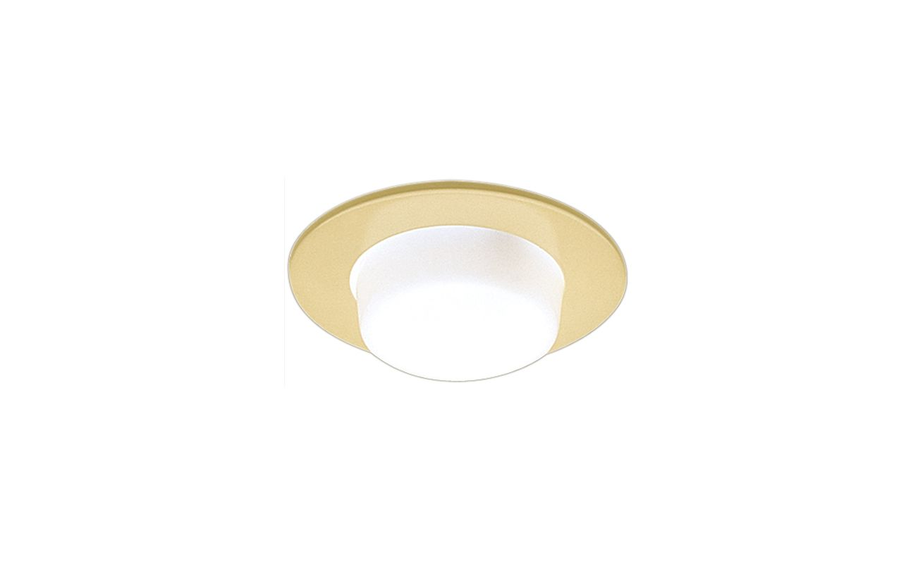 "Elco EL9116 4"" Shower Trim with Drop Opal Lens and Reflector Gold"