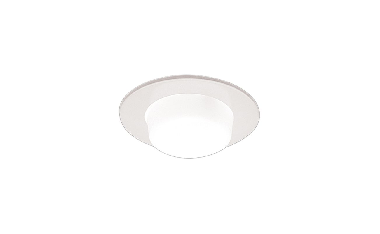 "Elco EL9116 4"" Shower Trim with Drop Opal Lens and Reflector White"