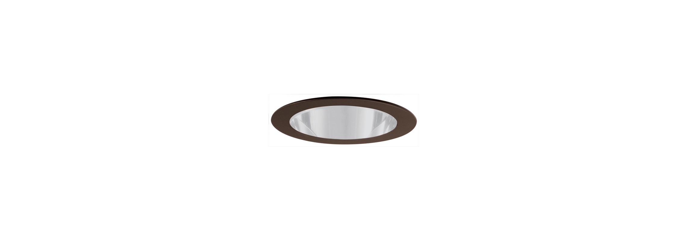 """Elco EL911 4"""" CFL Shower Trim with Clear Lens Bronze Recessed Lights"""