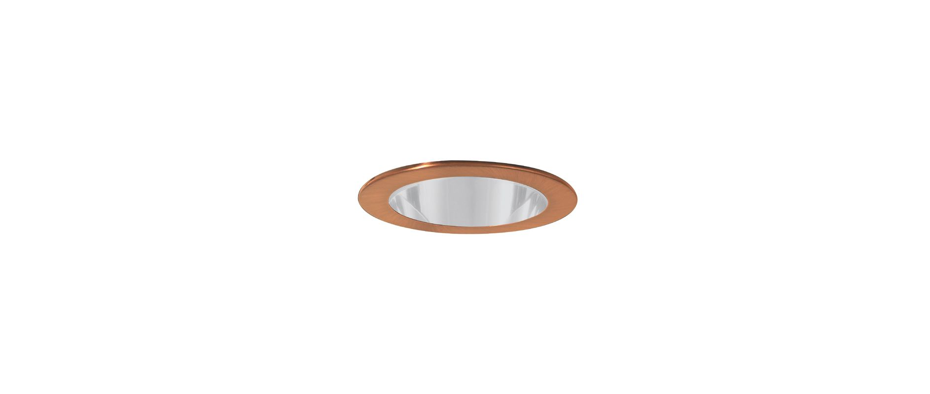"Elco EL911 4"" CFL Shower Trim with Clear Lens Copper Recessed Lights"