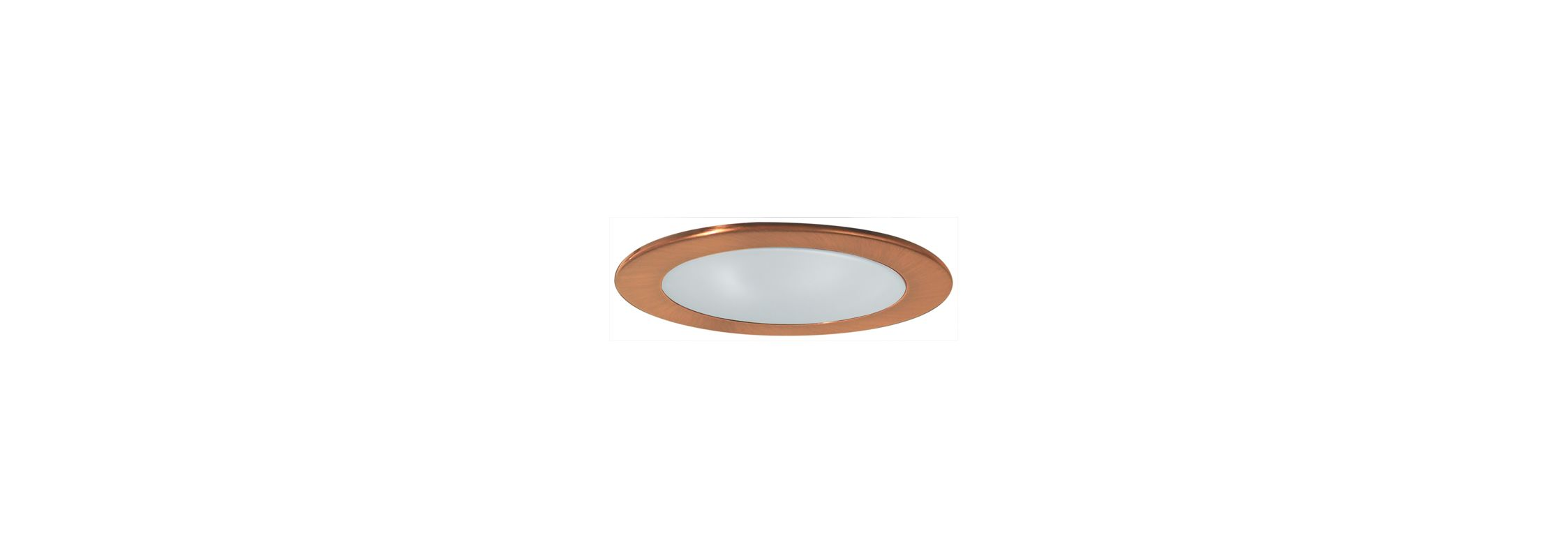 "Elco EL912 4"" Shower Trim with Frosted Lens Copper Recessed Lights"