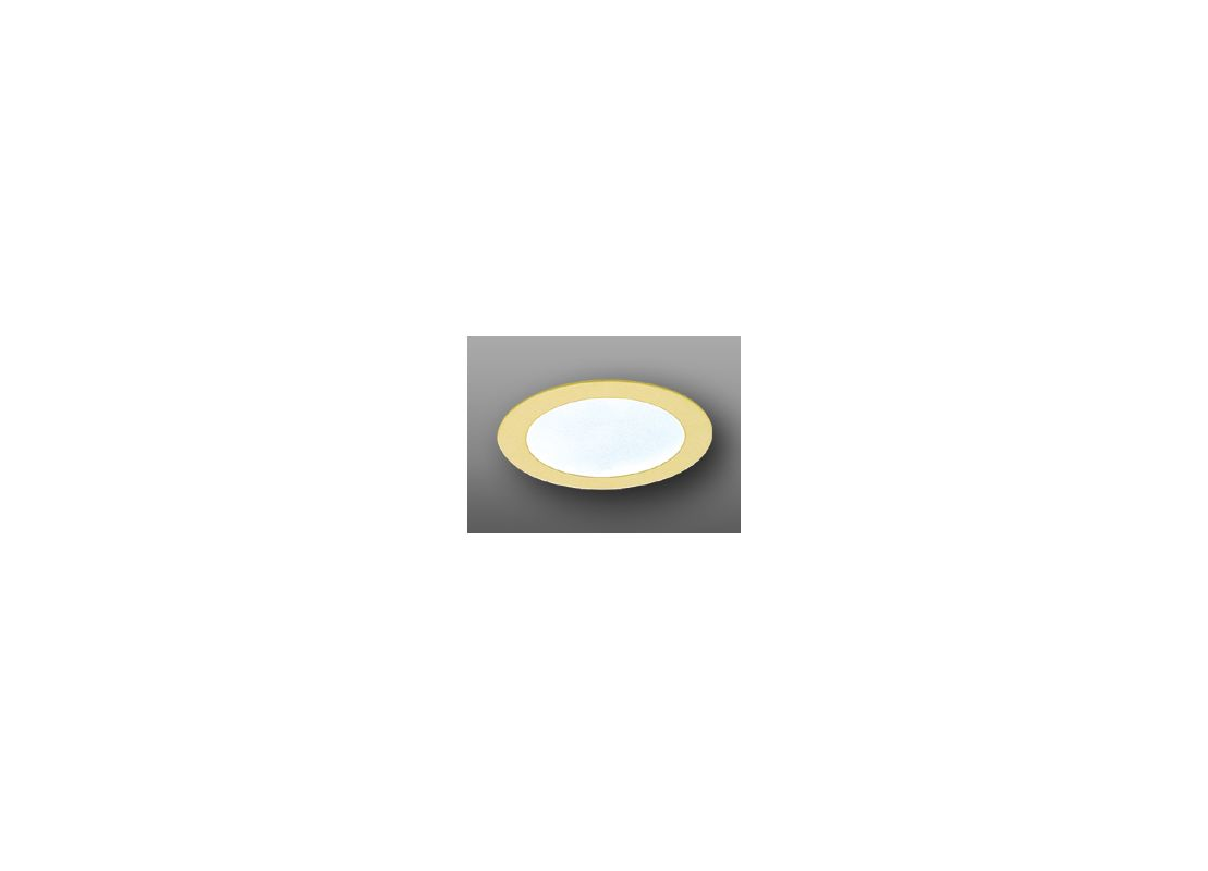 "Elco EL912 4"" Shower Trim with Frosted Lens Gold Recessed Lights"