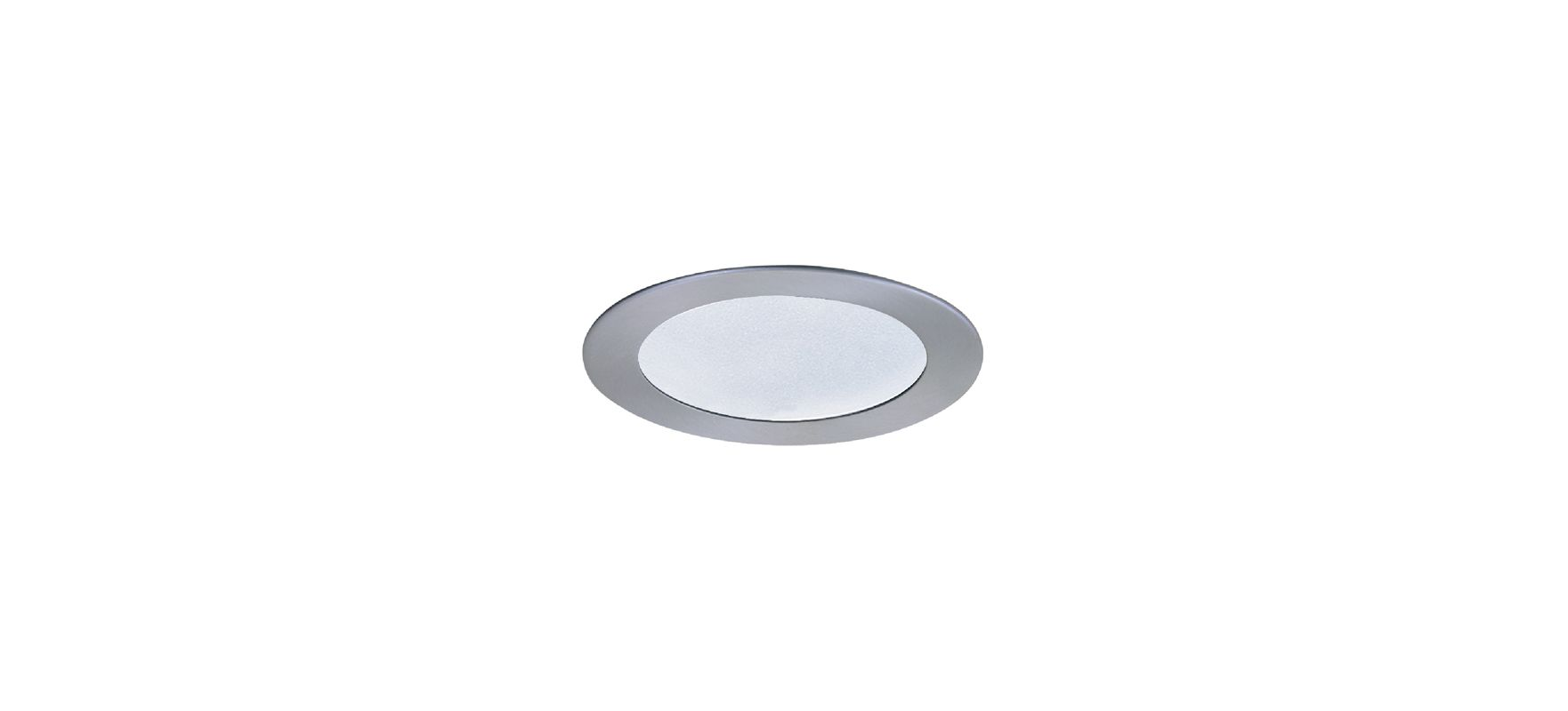"Elco EL912 4"" Shower Trim with Frosted Lens Nickel Recessed Lights"