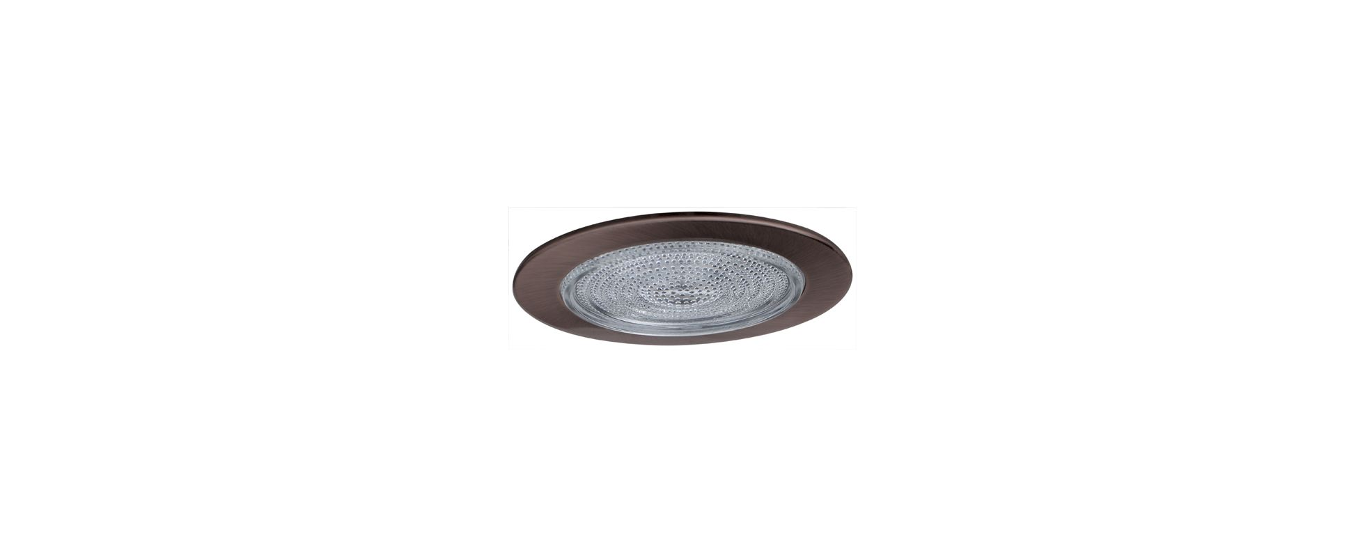 "Elco EL913 4"" Shower Trim with Fresnel Lens Bronze Recessed Lights"