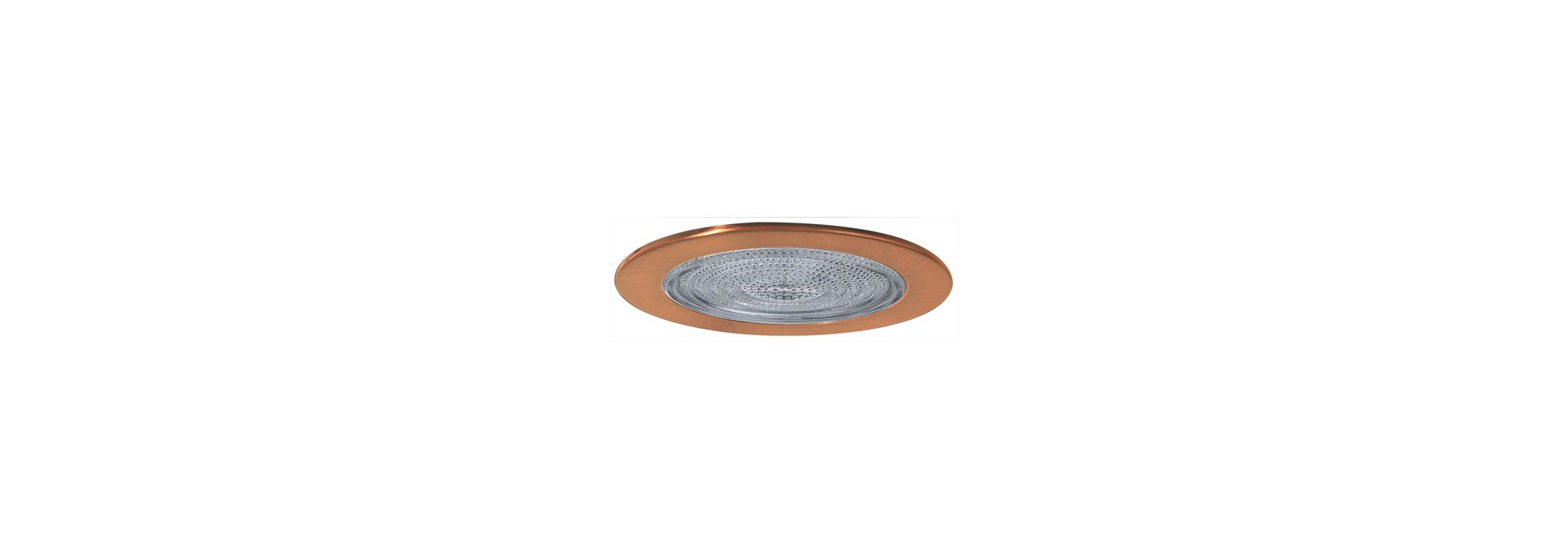 "Elco EL913 4"" Shower Trim with Fresnel Lens Copper Recessed Lights"