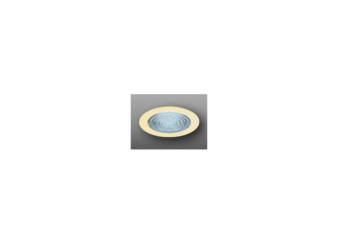 "Elco EL913 4"" Shower Trim with Fresnel Lens Gold Recessed Lights"