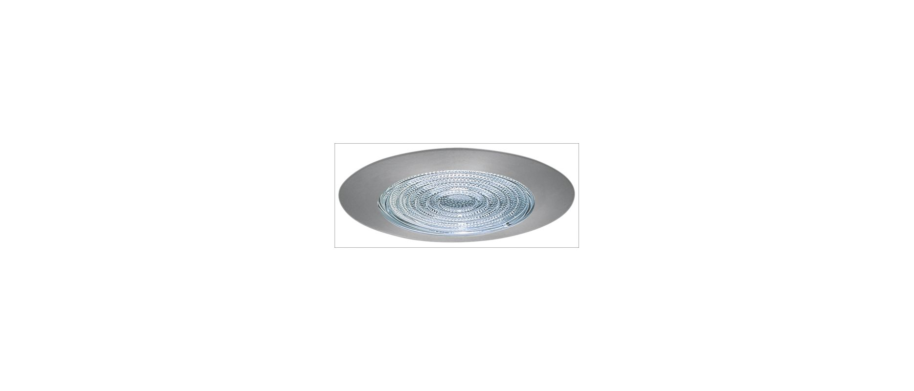 "Elco EL913 4"" Shower Trim with Fresnel Lens Nickel Recessed Lights"