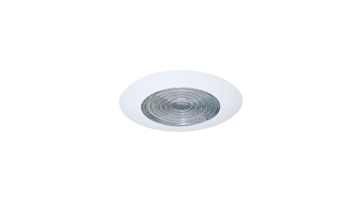 "Elco EL913SH 4"" White Lexan Shower Trim with Fresnel Lens White"