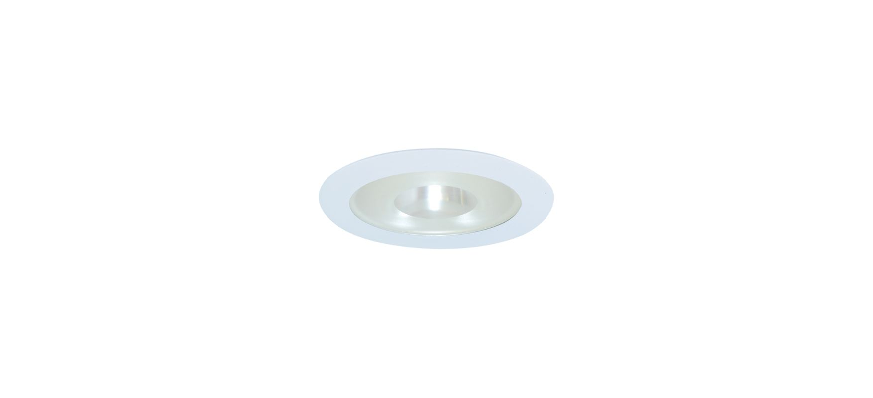 "Elco EL915SH 4"" White Lexan Shower Trim with Frosted Pinhole Glass"