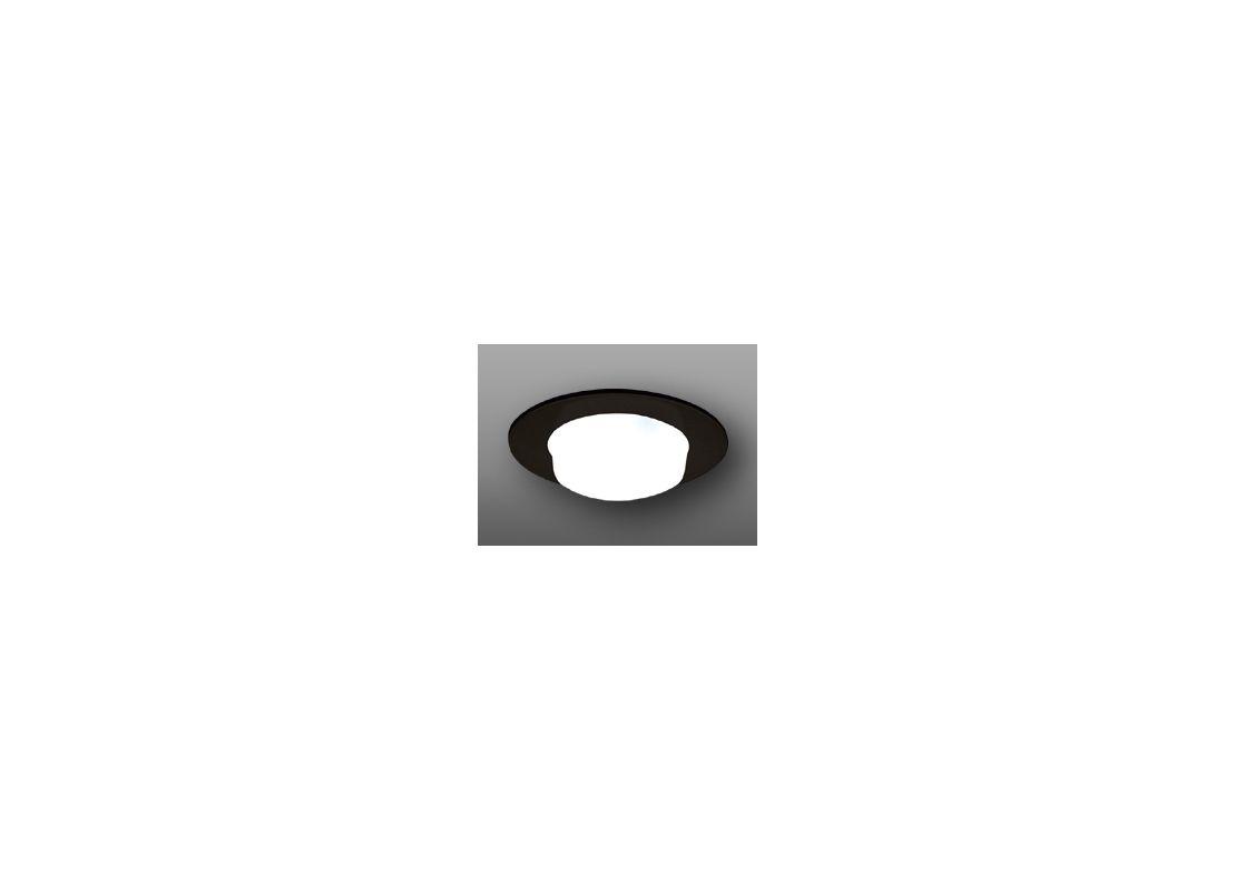 "Elco EL916 4"" Shower Trim with Drop Opal Lens Black Recessed Lights"
