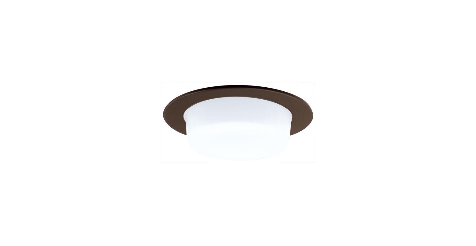 "Elco EL916 4"" Shower Trim with Drop Opal Lens Bronze Recessed Lights"