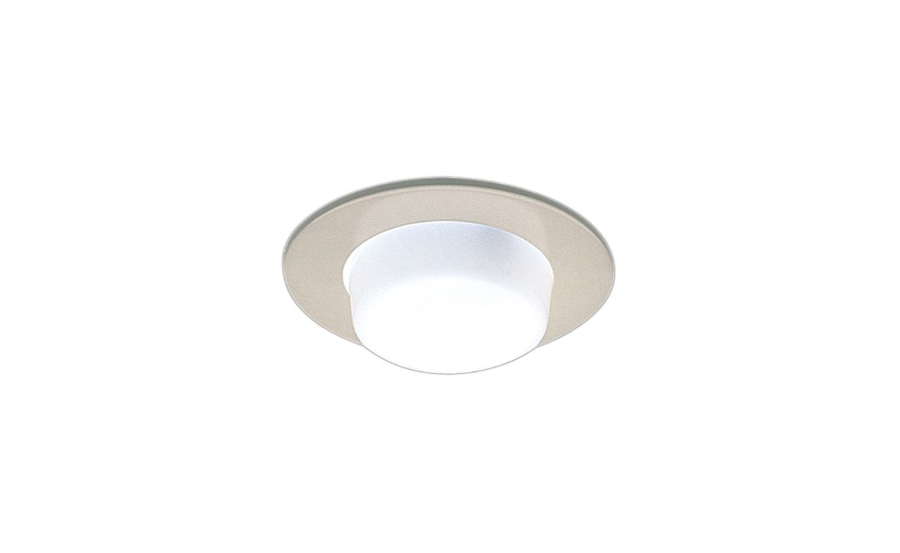 "Elco EL916 4"" Shower Trim with Drop Opal Lens Clear Recessed Lights"