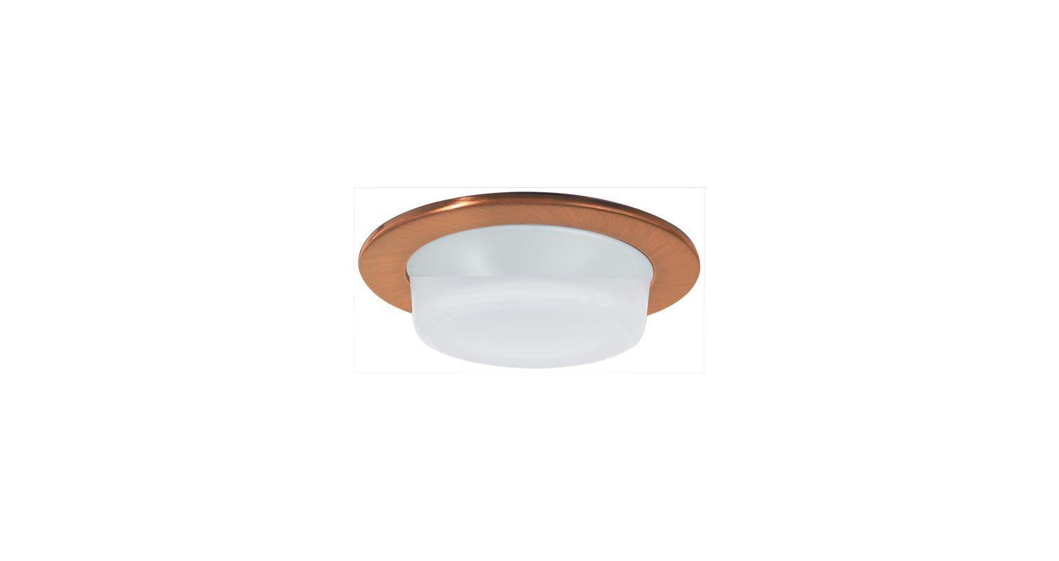 "Elco EL916 4"" Shower Trim with Drop Opal Lens Copper Recessed Lights"
