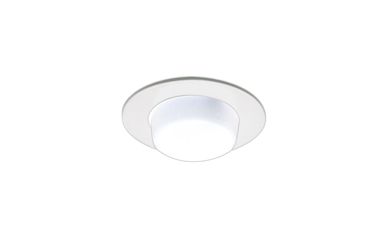 "Elco EL916 4"" Shower Trim with Drop Opal Lens White Recessed Lights"