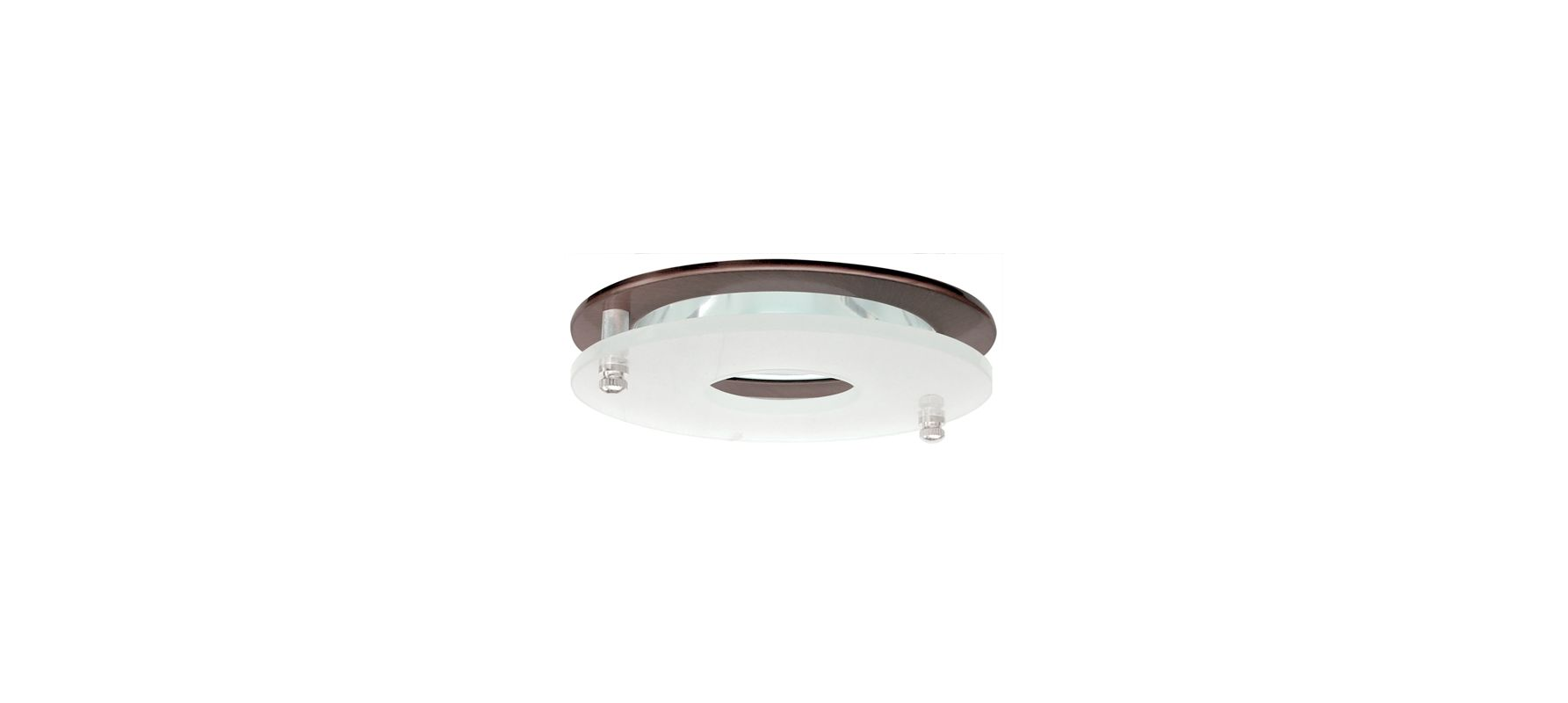 "Elco EL926 4"" Clear Reflector with Suspended Frosted Glass Bronze"