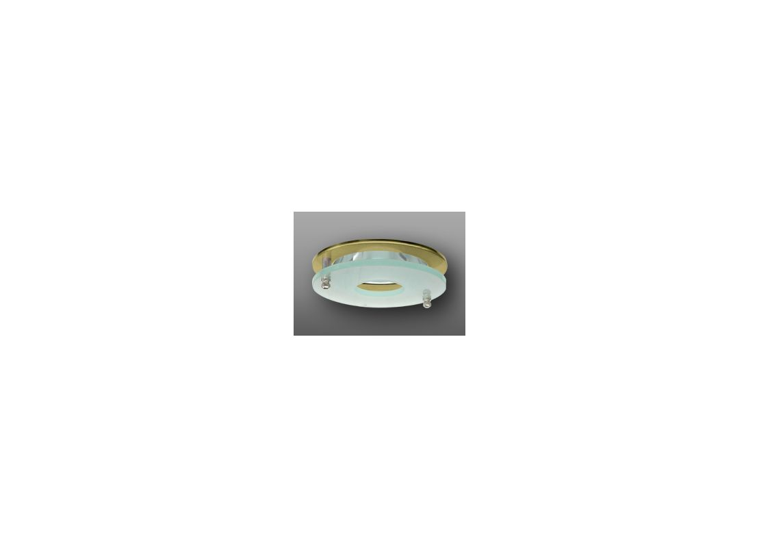 "Elco EL926 4"" Clear Reflector with Suspended Frosted Glass Gold"