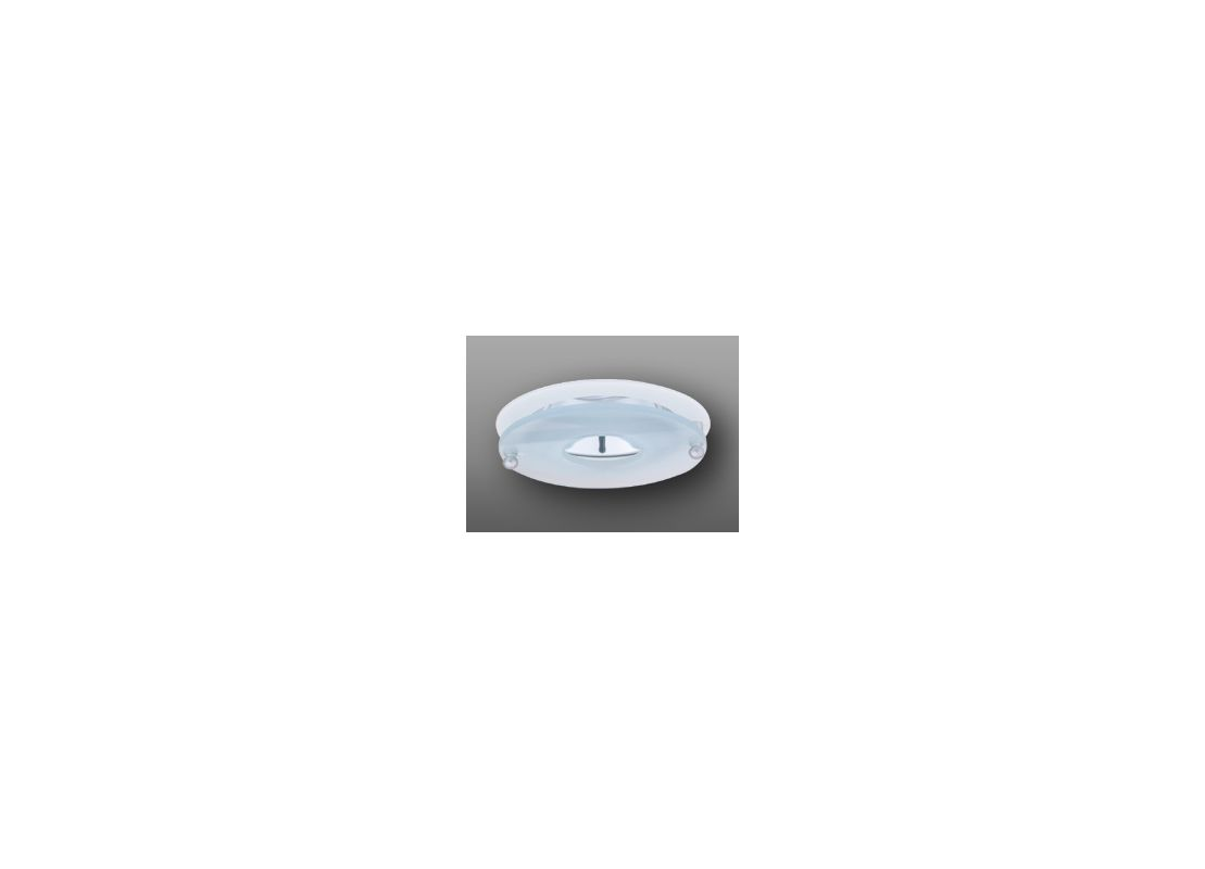 "Elco EL926 4"" Clear Reflector with Suspended Frosted Glass White"