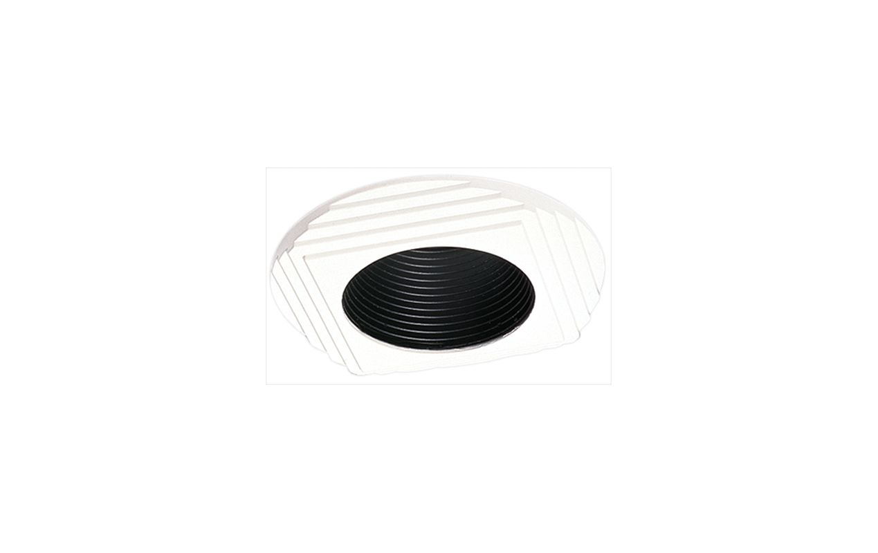 "Elco EL941 4"" Diecast Round Stepped Trim Black / White Recessed Lights"