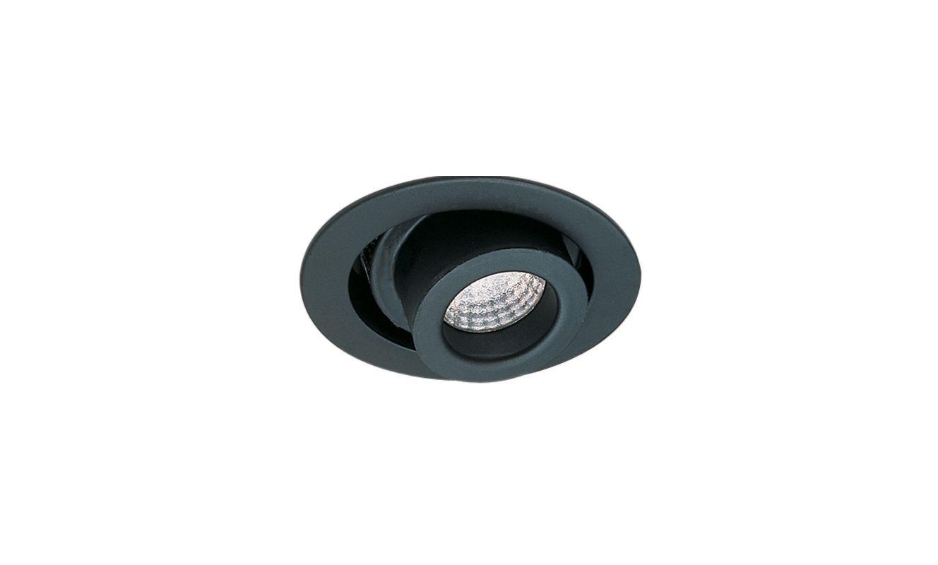 """Elco EL955 4"""" Adjustable Spot Cylinder Trim Black Recessed Lights"""