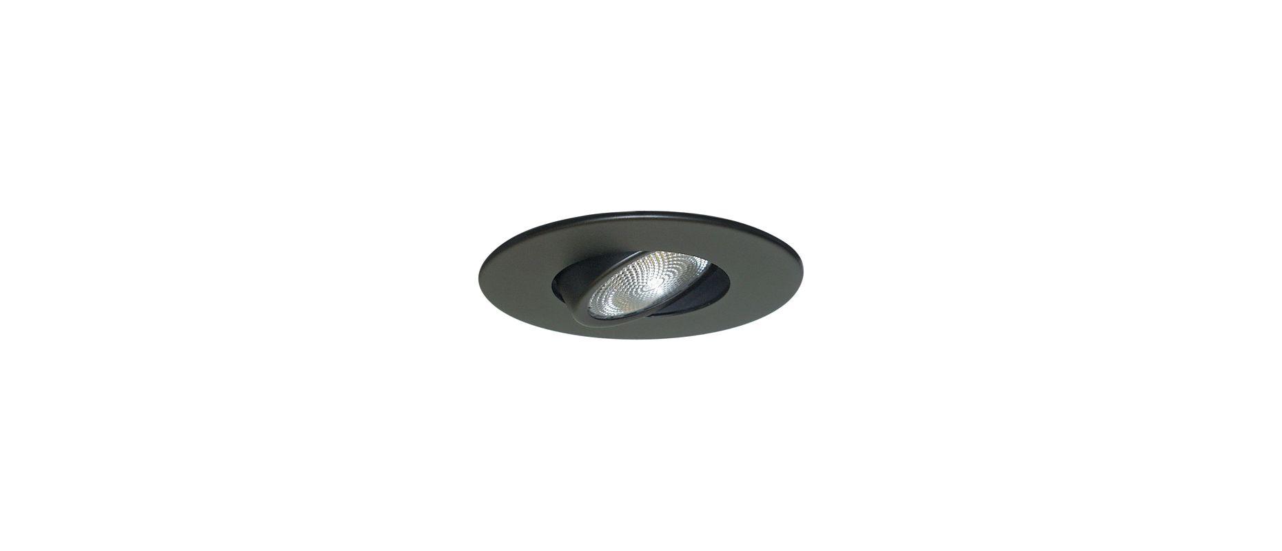 "Elco EL985 4"" Adjustable Gimbal Ring Black Recessed Lights Adjustable"