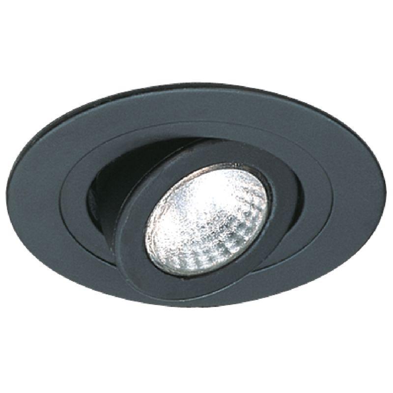 "Elco EL988 4"" Adjustable Spot Trim Black Recessed Lights Adjustable"