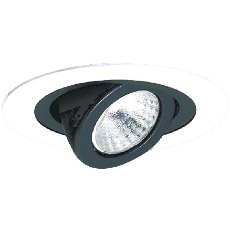 "Elco EL988 4"" Adjustable Spot Trim Black / White Recessed Lights"