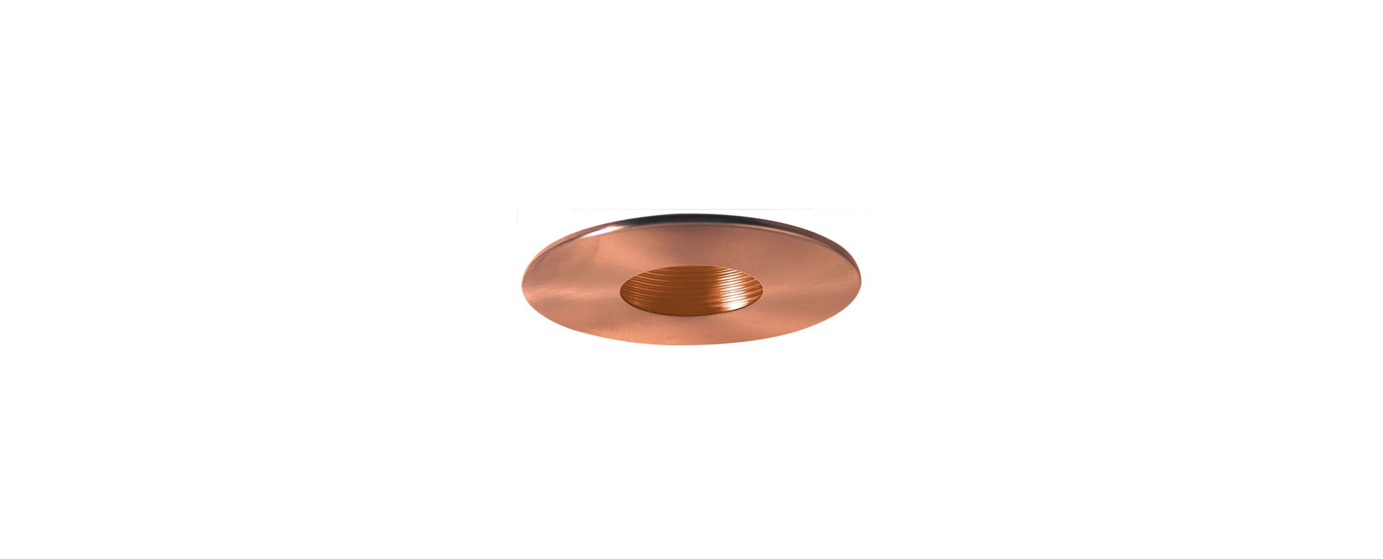 "Elco EL990 4"" Pinhole Trim with Baffle Copper Recessed Lights Pinhole"