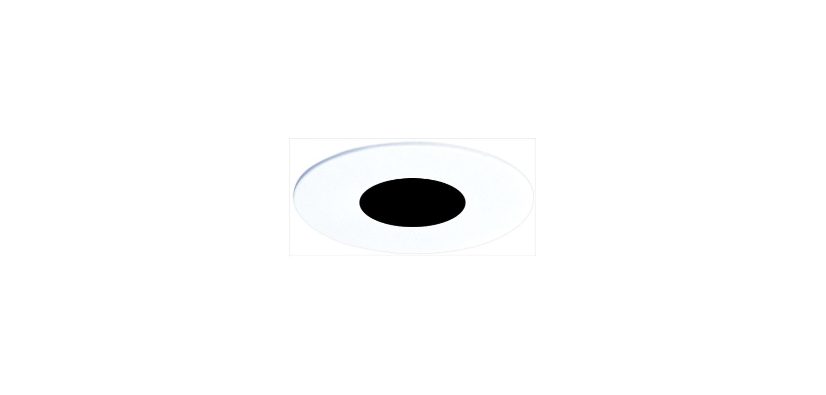 "Elco EL990 4"" Pinhole Trim with Baffle Black / White Recessed Lights"