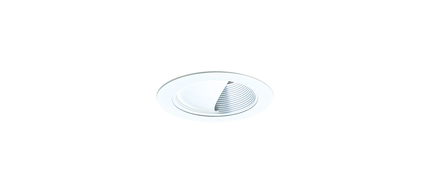 """Elco EL992 4"""" Wall Wash with Baffle White Recessed Lights Trim"""