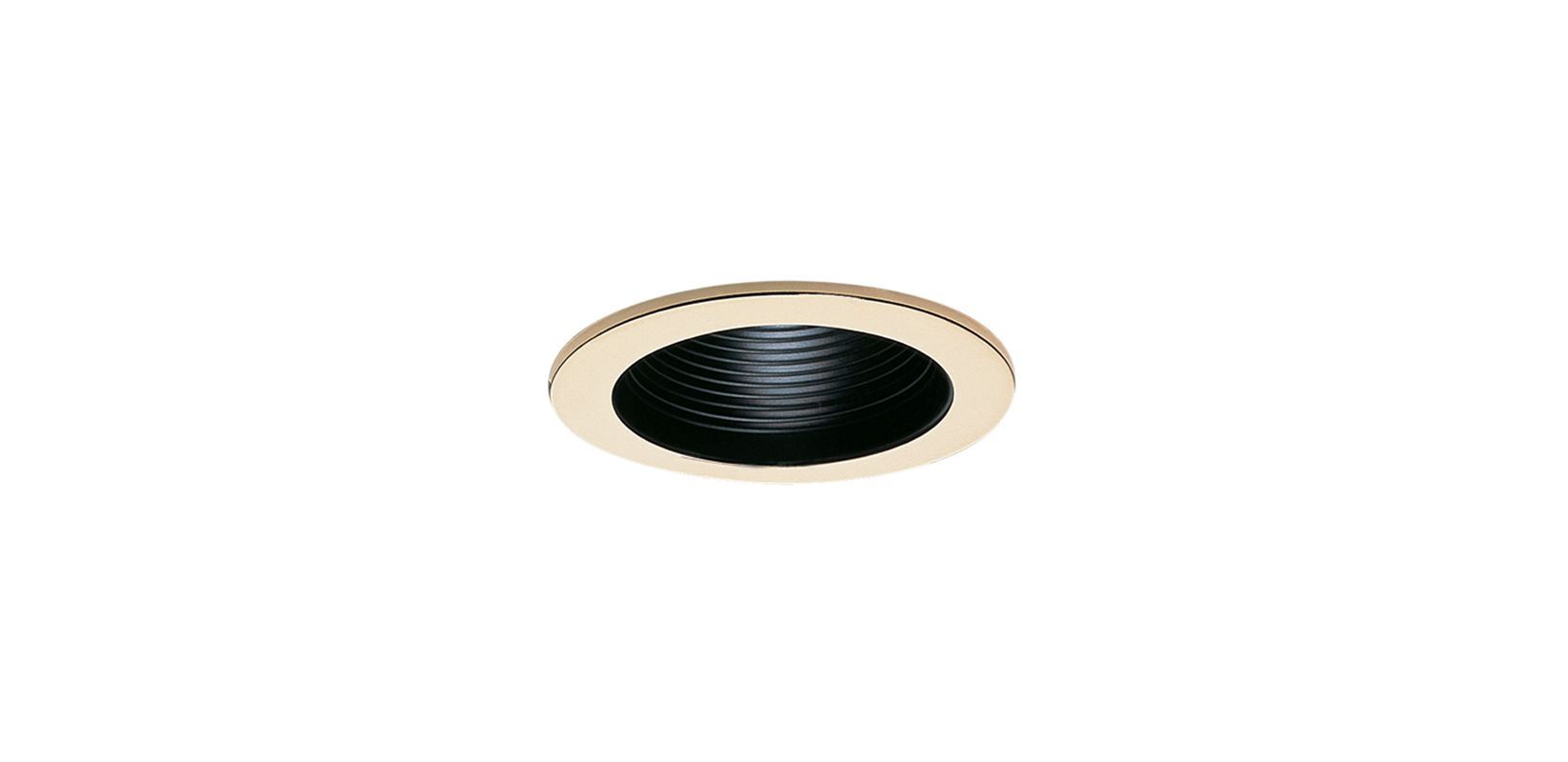 "Elco EL993 4"" Phenolic Baffle with Metal Ring Black / Gold Recessed"