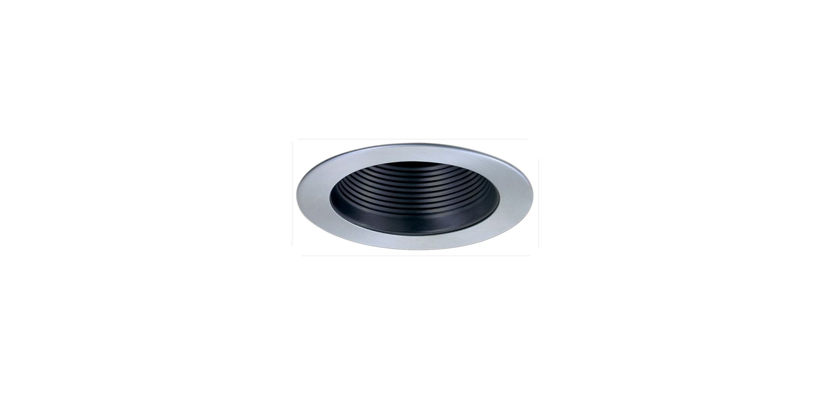 "Elco EL993 4"" Phenolic Baffle with Metal Ring Black / Nickel Recessed"