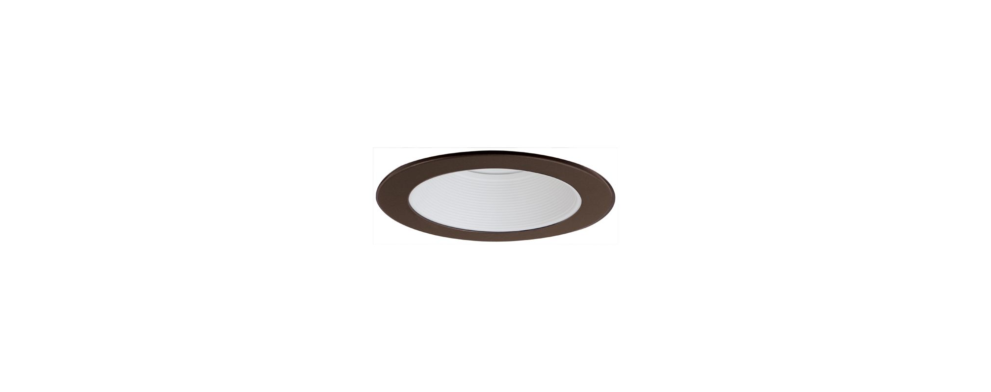 "Elco EL993 4"" Phenolic Baffle with Metal Ring White / Bronze Recessed"