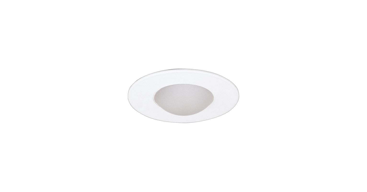 "Elco EL996W 4"" Shower Trim with Round Drop Lens White Recessed Lights"