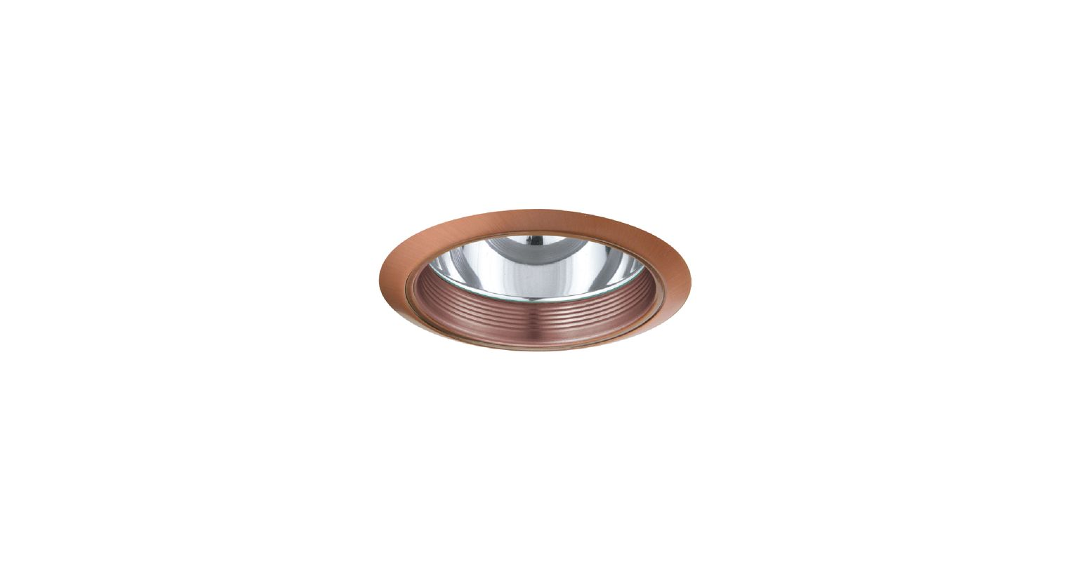 "Elco ELA101 6"" CFL Clear Reflector with Baffle Copper Recessed Lights"