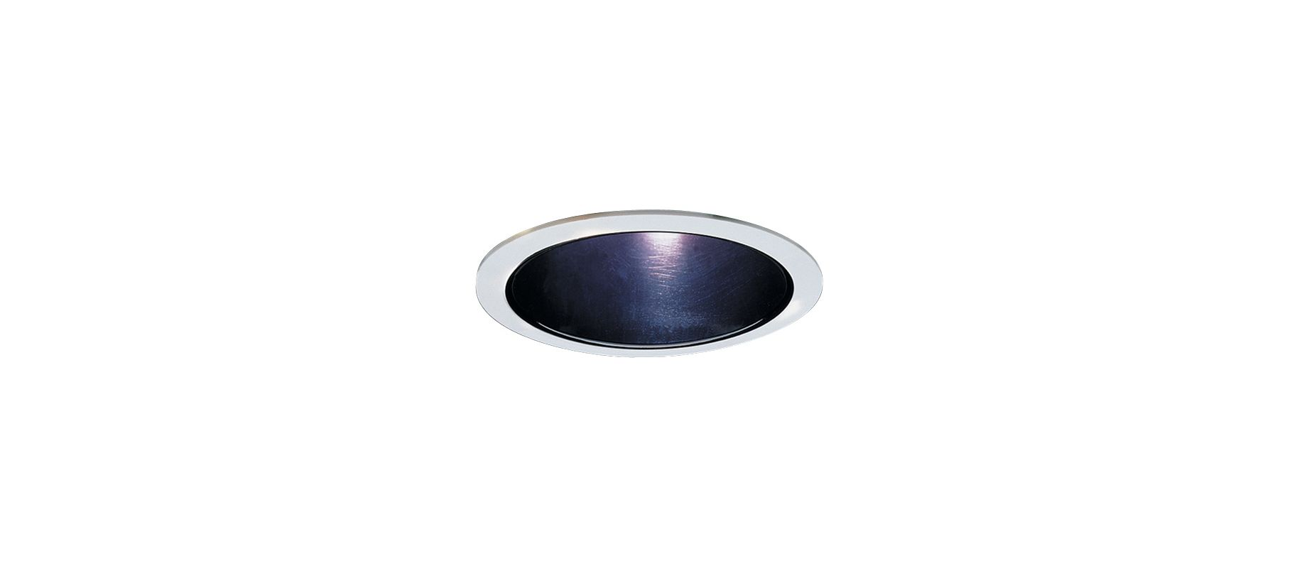 Elco ELA599S 5&quote Reflector Trim for 60W Bulbs Black / White Recessed