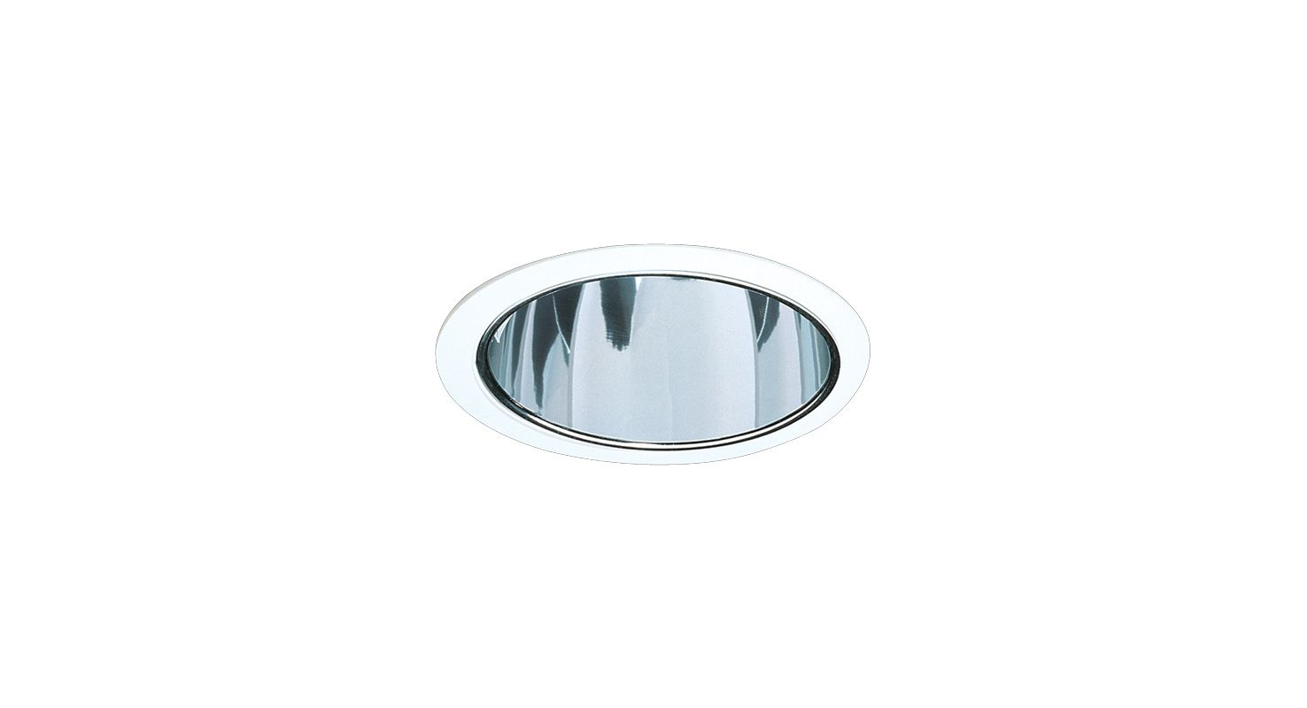 "Elco ELA599S 5"" Reflector Trim for 60W Bulbs Clear / White Recessed"