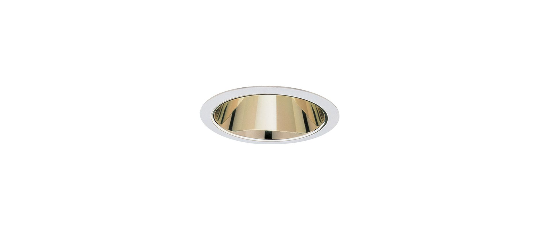 "Elco ELA599S 5"" Reflector Trim for 60W Bulbs Gold / White Recessed"