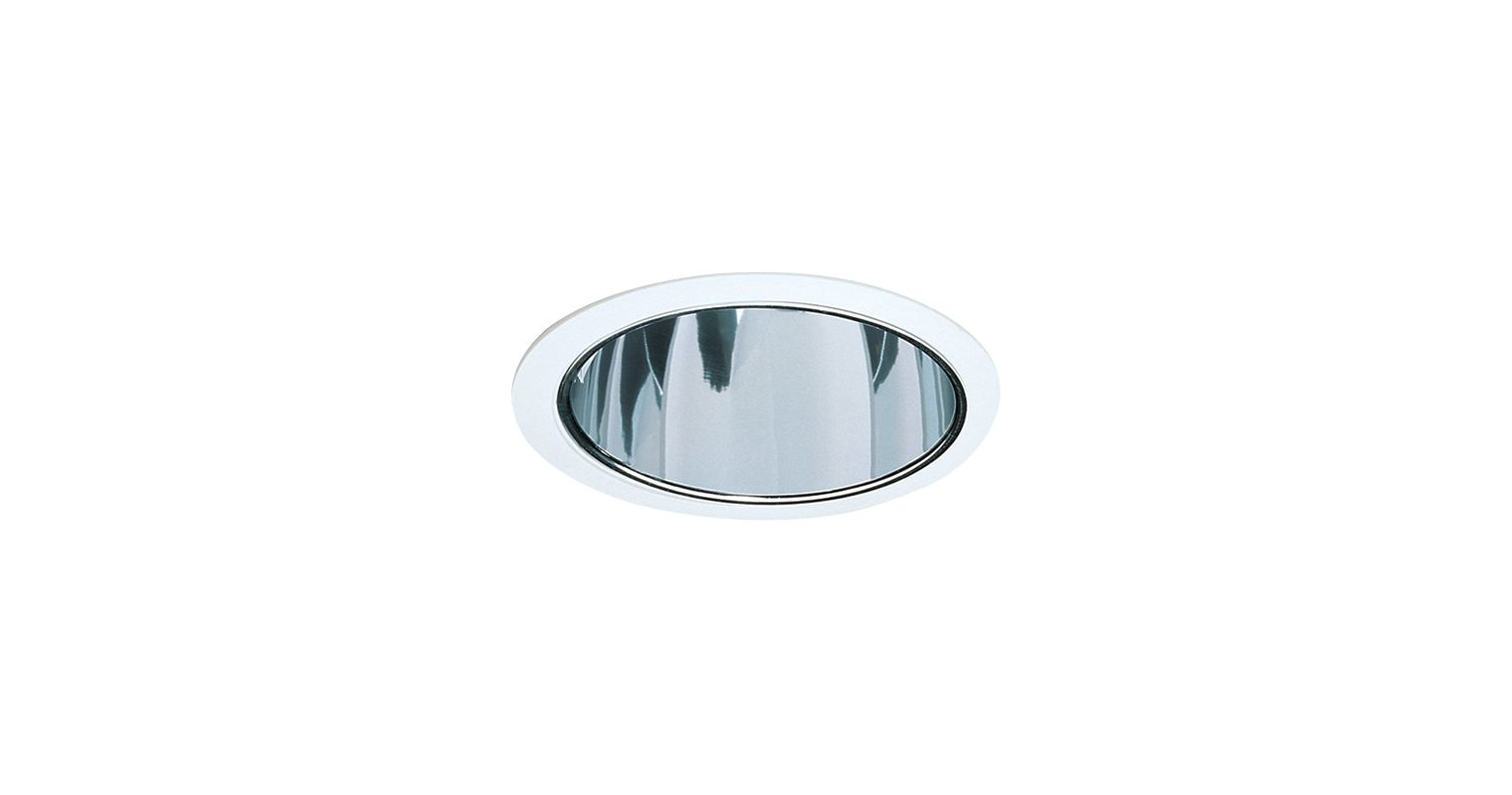 Elco ELA88S 6&quote CFL Reflector Trim Clear / White Recessed Lights