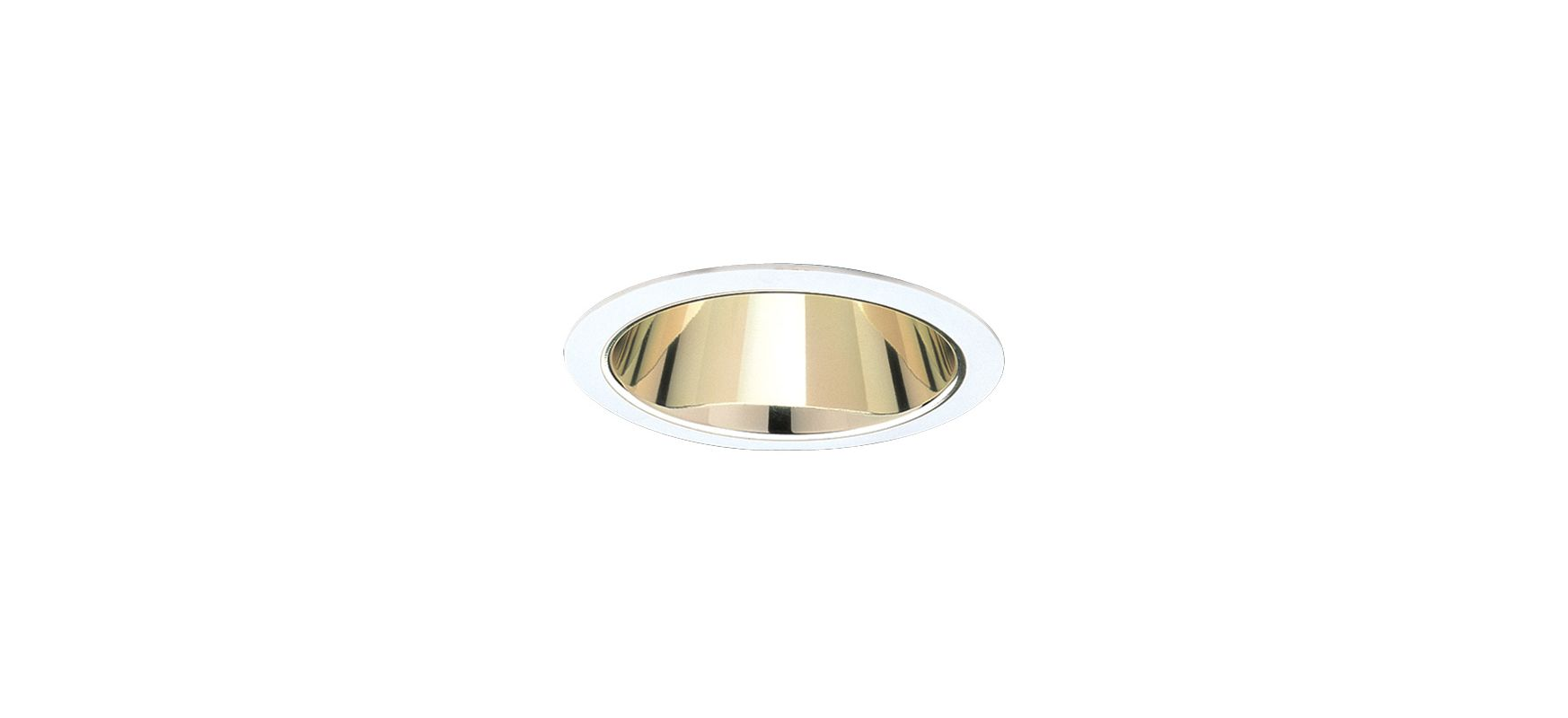 "Elco ELA88S 6"" CFL Reflector Trim Gold / White Recessed Lights"