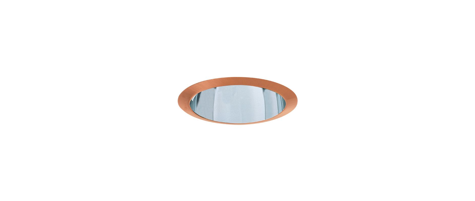 Elco ELA99S 6&quote Reflector Trim Clear / Copper Recessed Lights Reflector