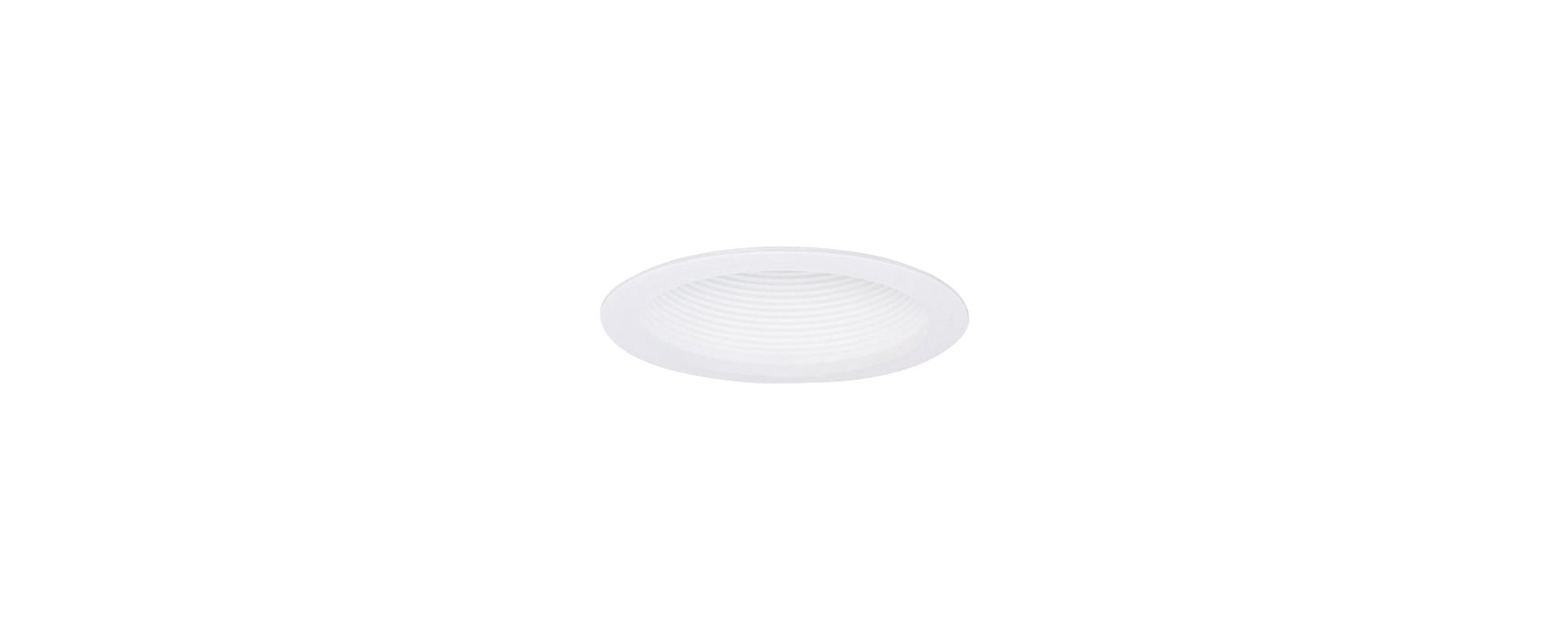 "Elco ELM305W 6"" One Piece Shallow Airtight White Baffle with Torsion"
