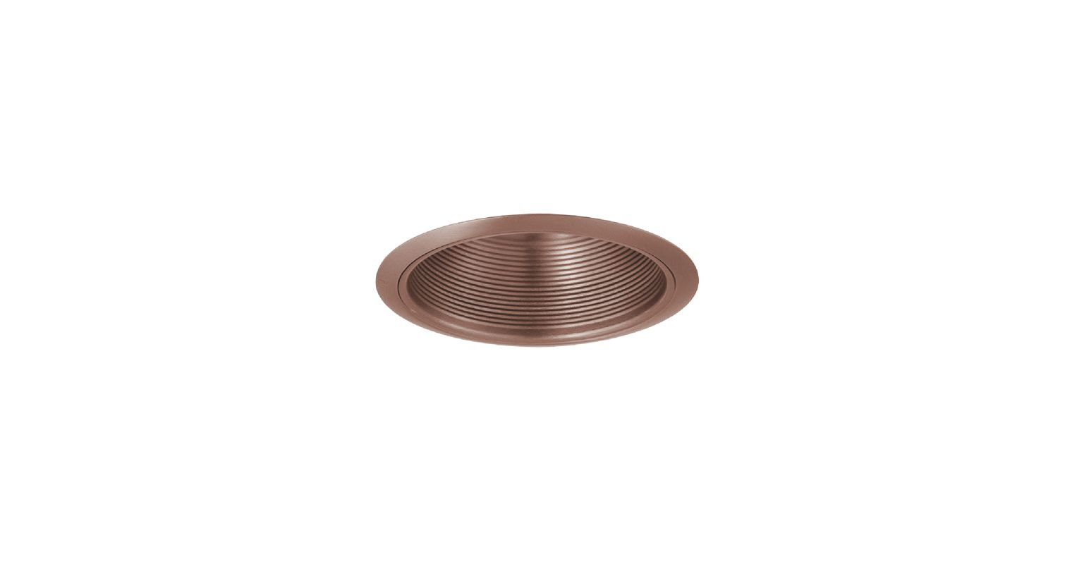"Elco ELM30 6"" Recessed Lighting Trim - Metal Baffle Copper Recessed"