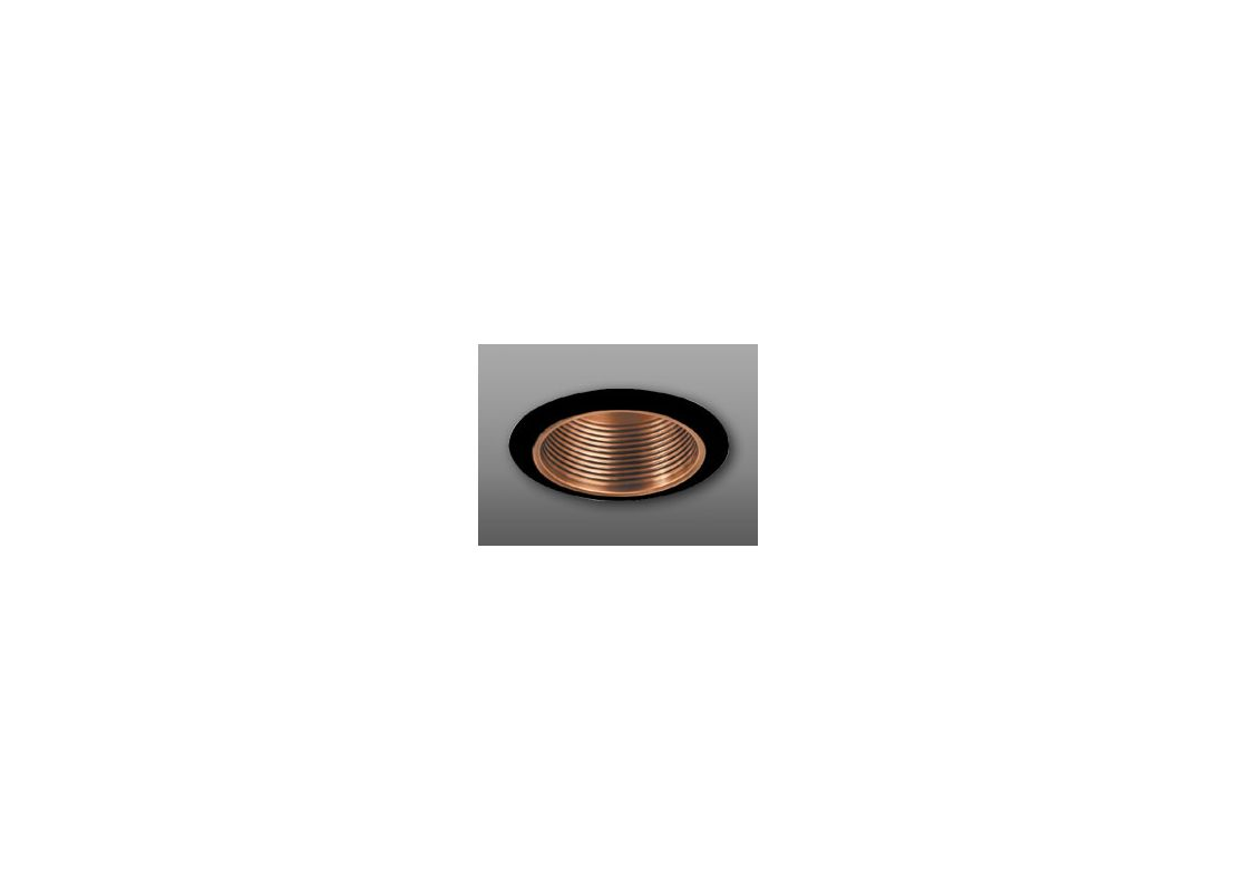 "Elco ELM30 6"" Recessed Lighting Trim - Metal Baffle Copper / Black"