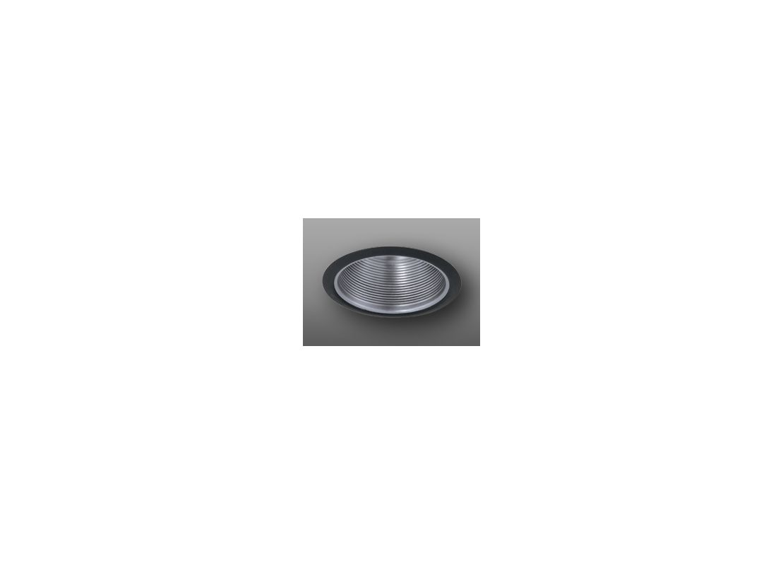 "Elco ELM30 6"" Recessed Lighting Trim - Metal Baffle Nickel / Black"