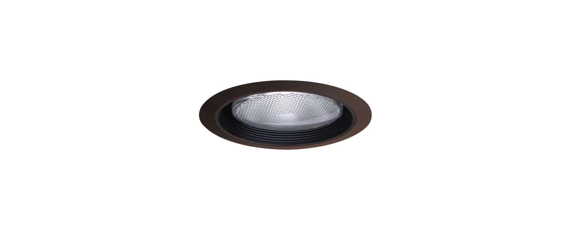 "Elco ELM40 6"" Recessed Lighting Trim - Metal Stepped Baffle Black /"