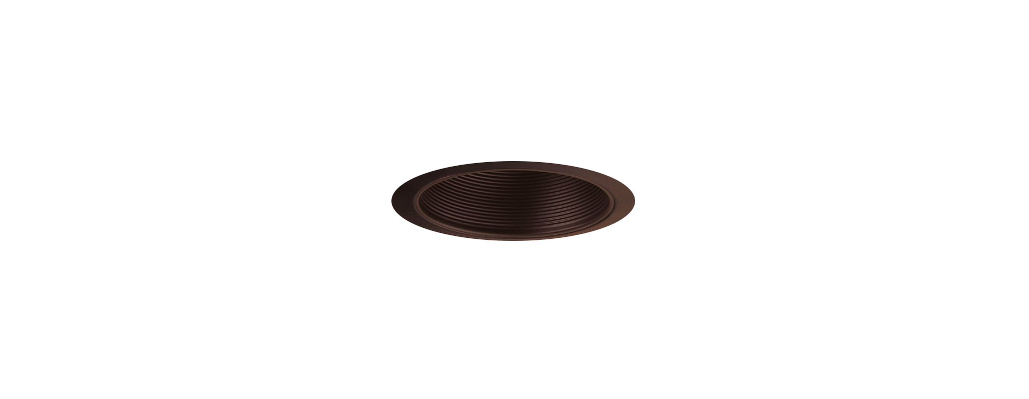 "Elco ELM40 6"" Recessed Lighting Trim - Metal Stepped Baffle Bronze"