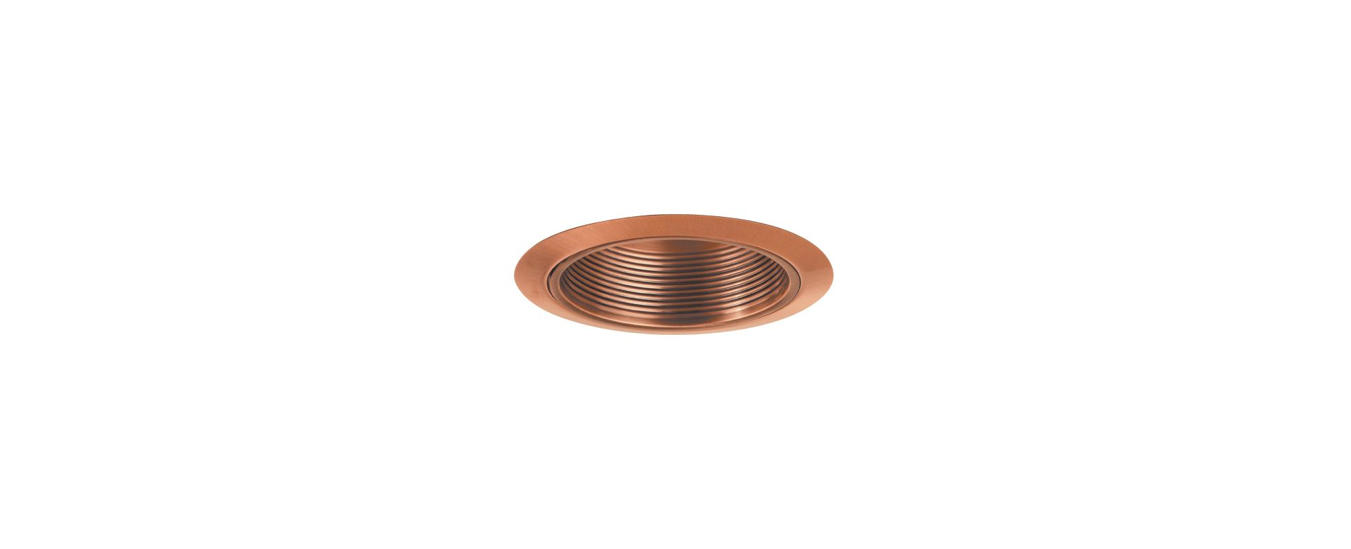 "Elco ELM40 6"" Recessed Lighting Trim - Metal Stepped Baffle Copper"