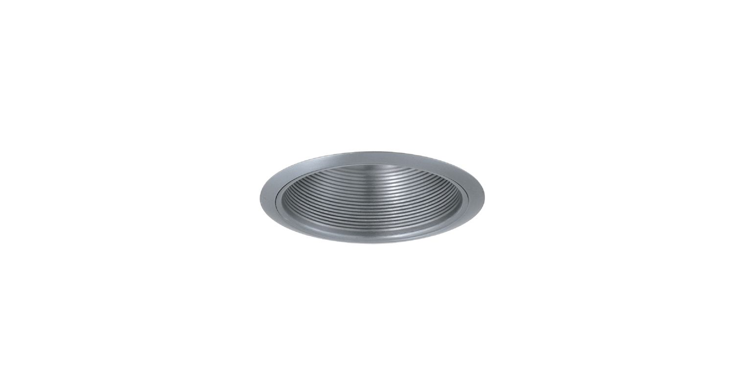 "Elco ELM40 6"" Recessed Lighting Trim - Metal Stepped Baffle Nickel"